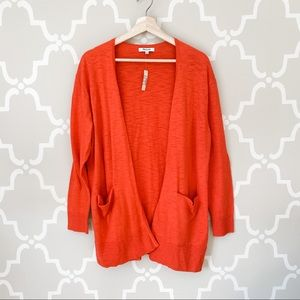 NWT Madewell Summer Ryder Costal Orange Cardigan